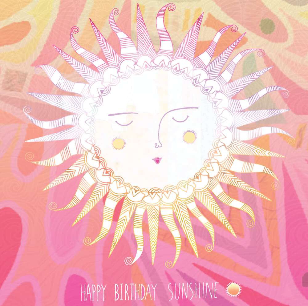 happy birthday sunshine hannah designs